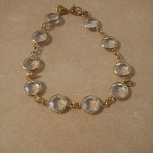 Monet Gold Tone Crystal Bracelet